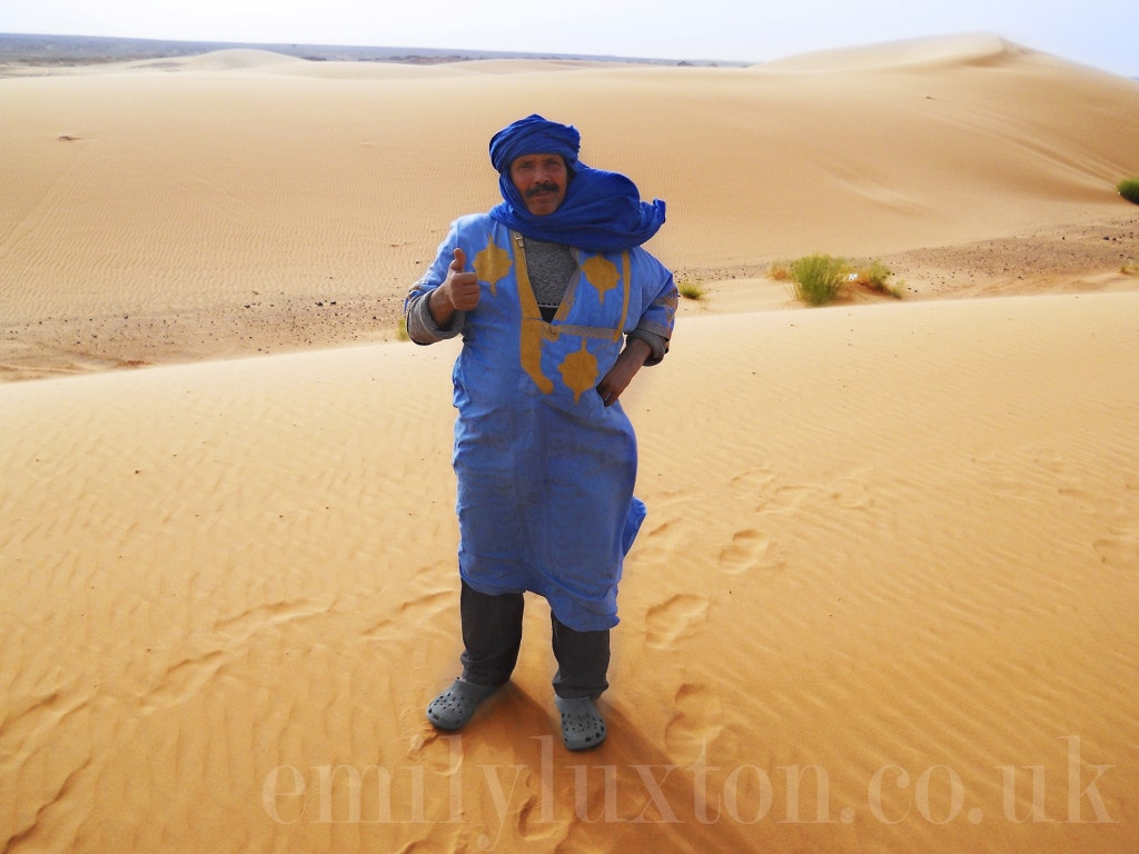 Tour guide in the Erg Chebbi Dunes