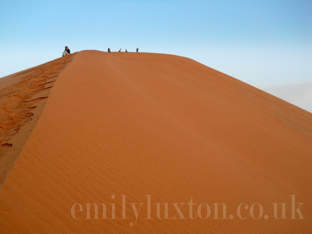 Large sand dune in the Moroccan Sahara desert