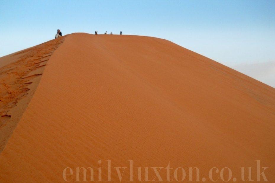 Large sand dune in the Moroccan Sahara desert