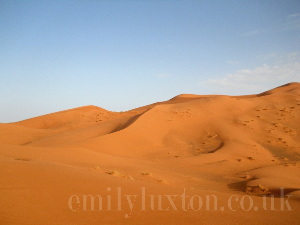 Erg Chebbi sand dunes in the Sahara