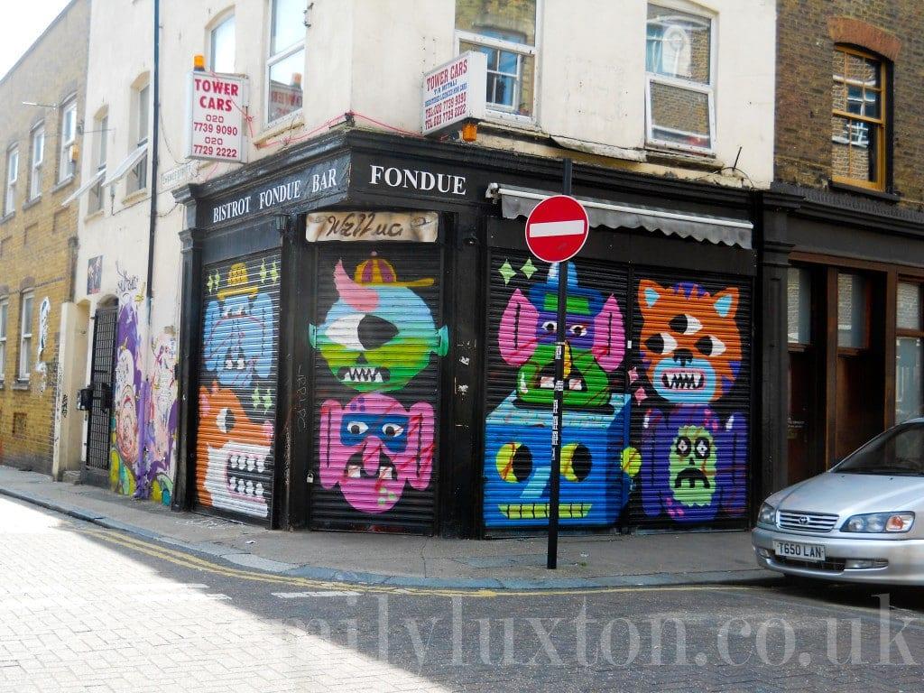 street art by Malarky on an East London walking tour