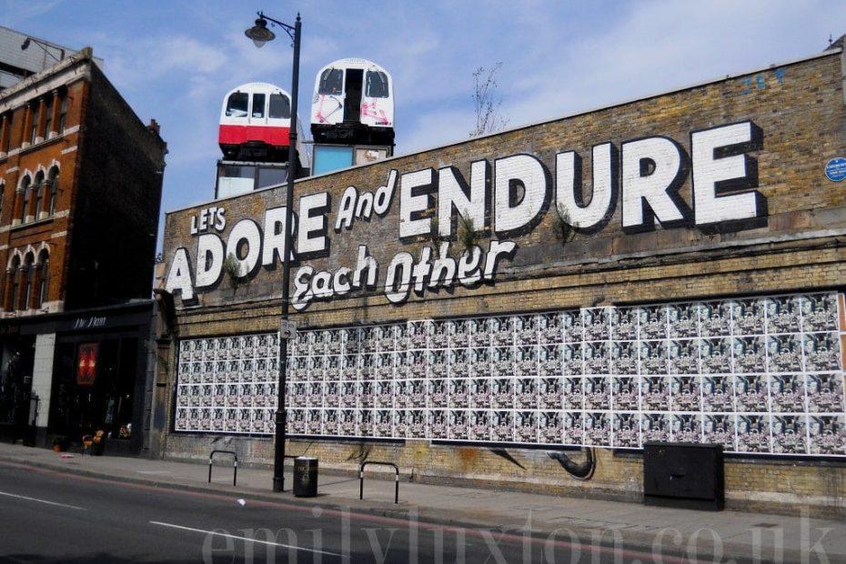 East London Street Art Walk Slums and Stencils
