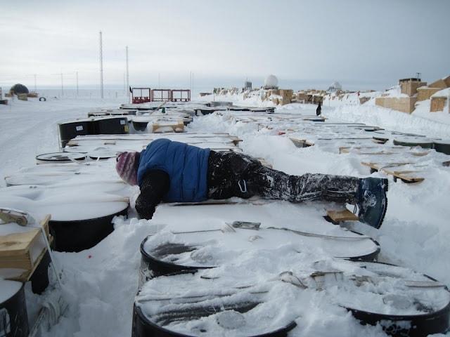 Working in Antarctica
