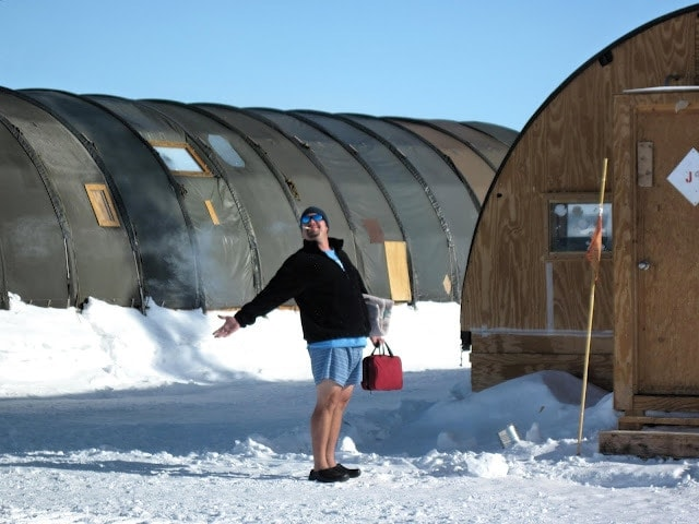 living in antartica