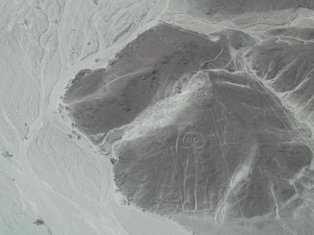 Nazca Lines astronaut figure in Peru