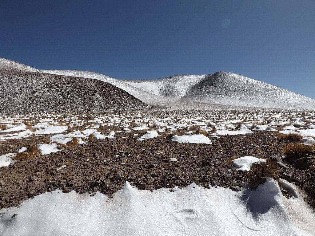 Snowy landscape at Parque Eduardo Alvaroa