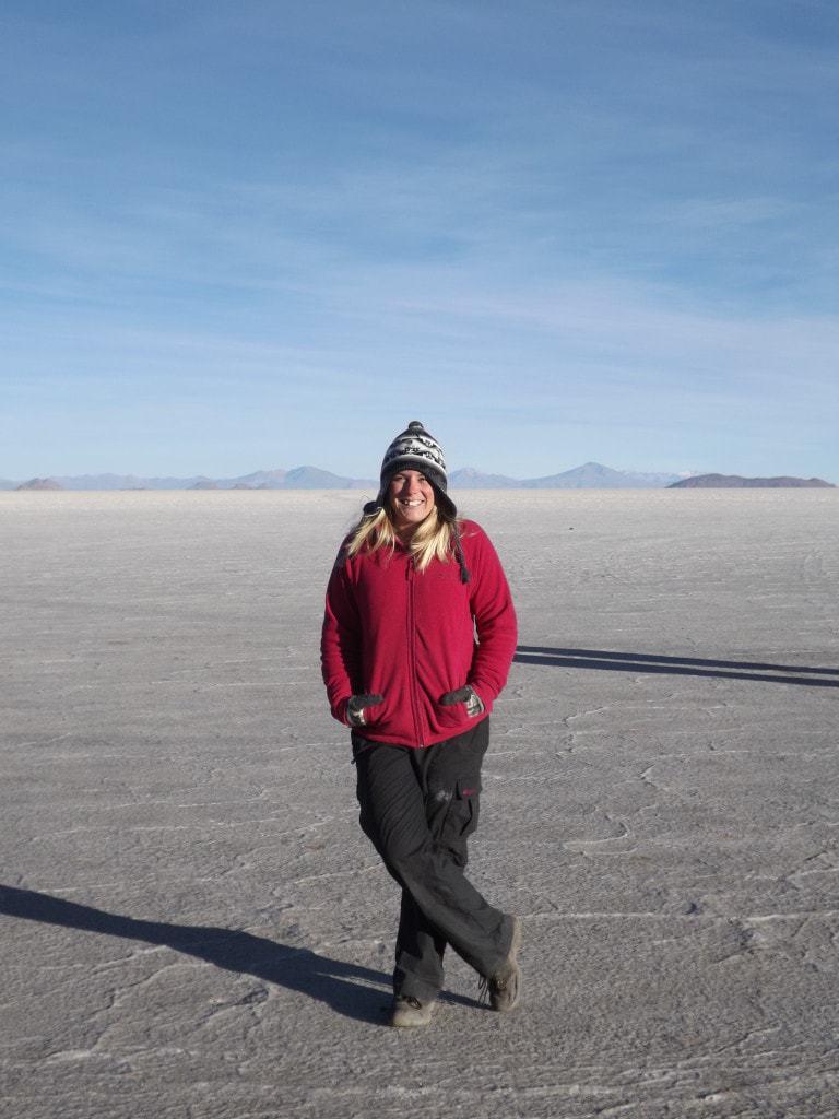 Salar Day Four, Me on the Salt Flats