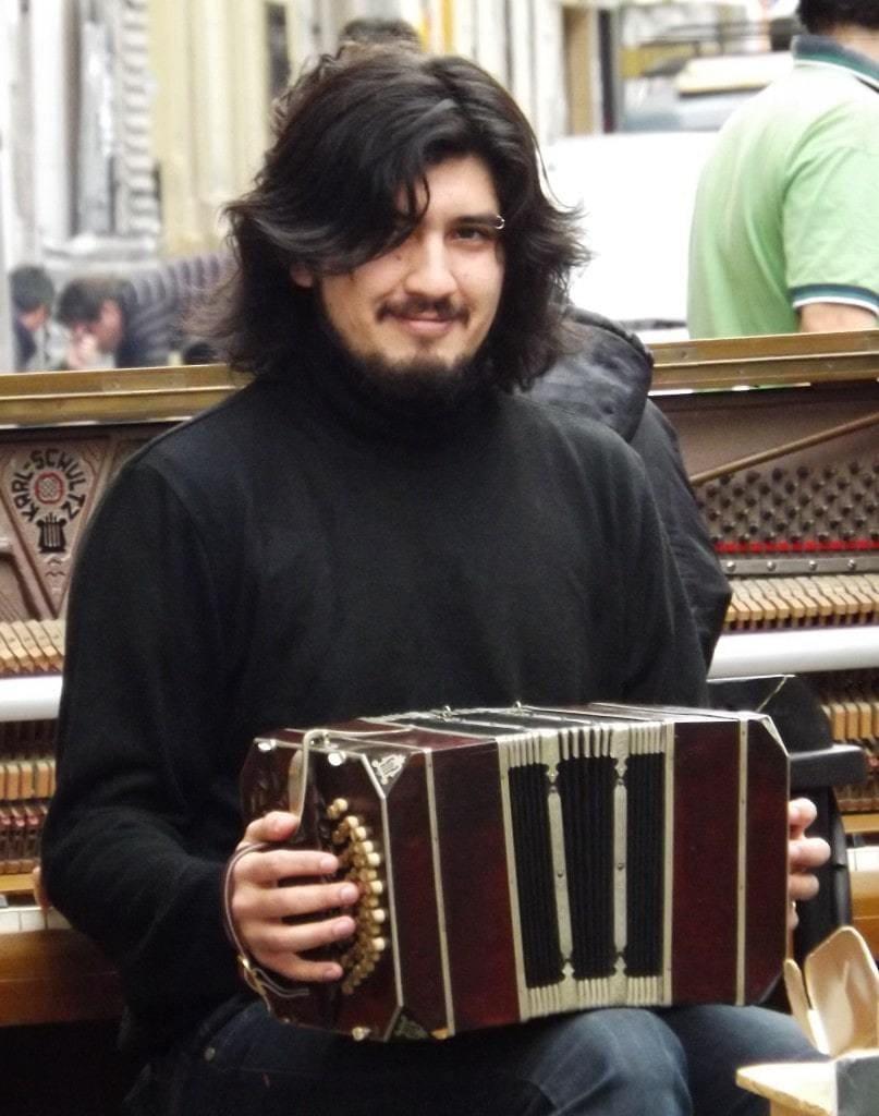 Musician at San Telmo Market, Buenos Aires