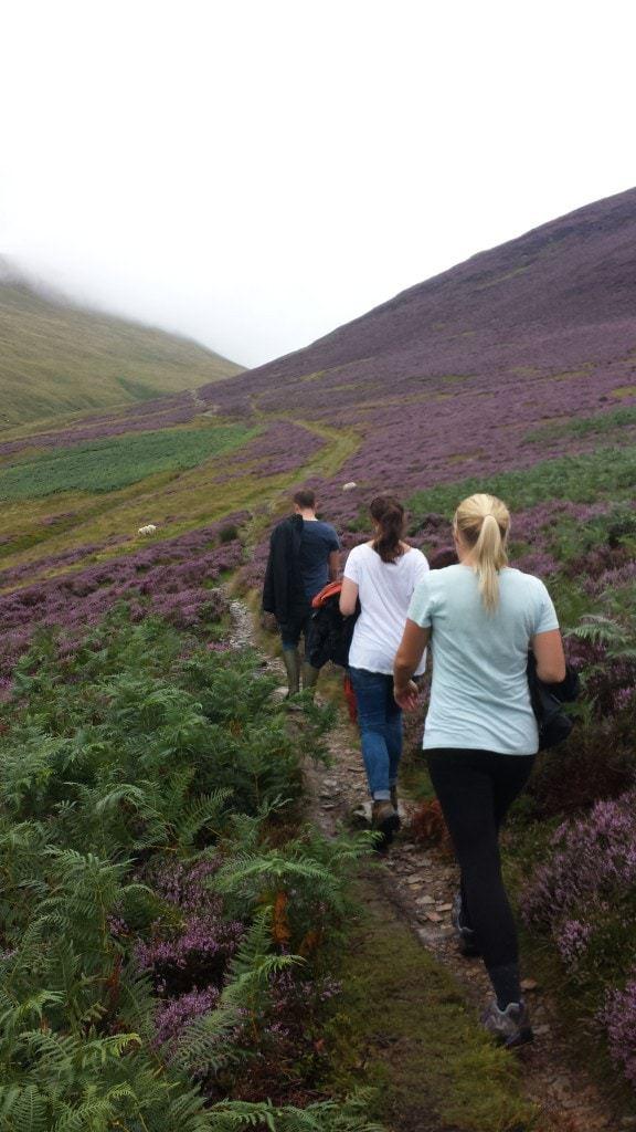 Climbing Barrow Fell, Lake District