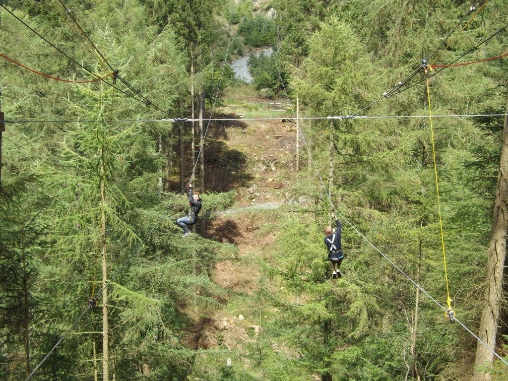 Zip Trekking with Go Ape Cumbria
