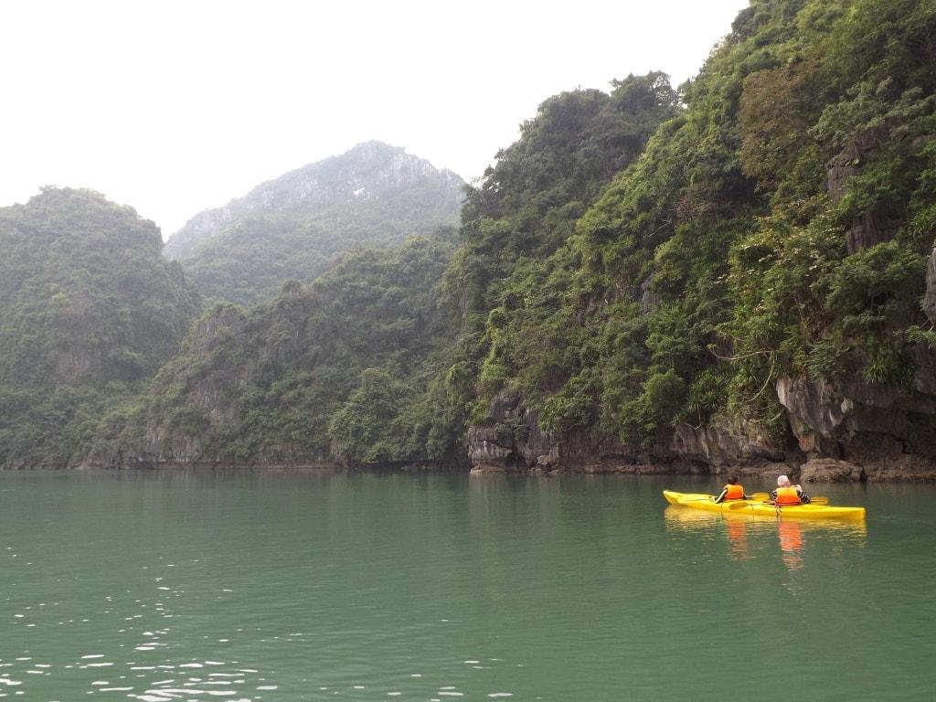 Kayak in Luon Cave Lagoon