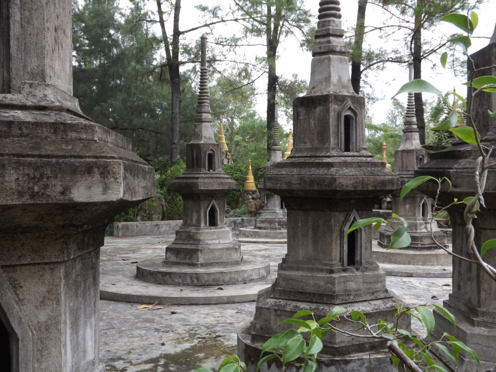 Graves at the Thailand Temple in Hue