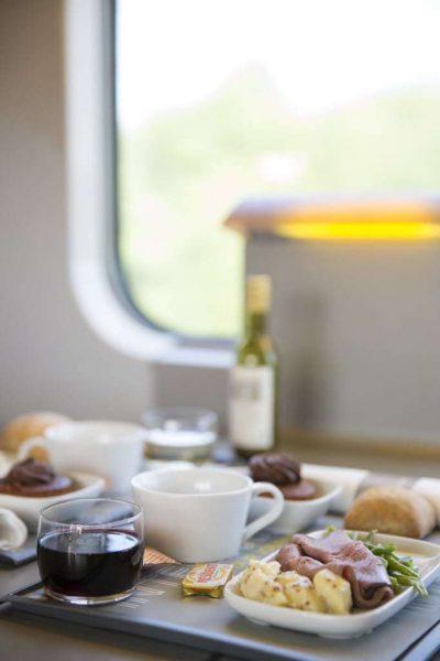 Eurostar Standard vs Standard Premier - onboard meal