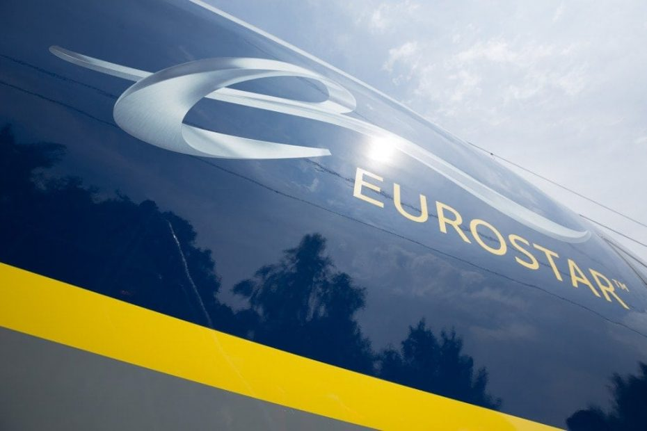 Close up of the Eurostar logo