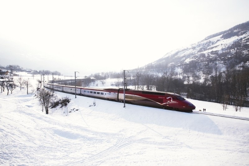 Thalys Train Snow Europe