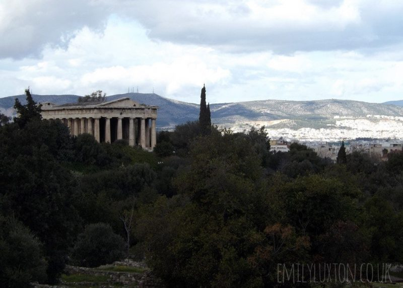 View from the Agora in Athens