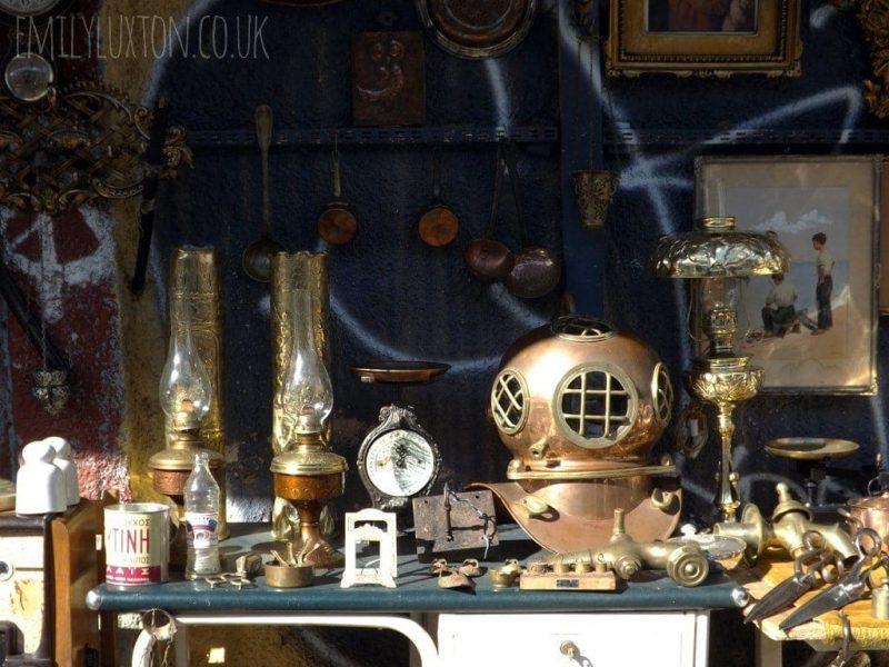 Antiques at the Athens flea market