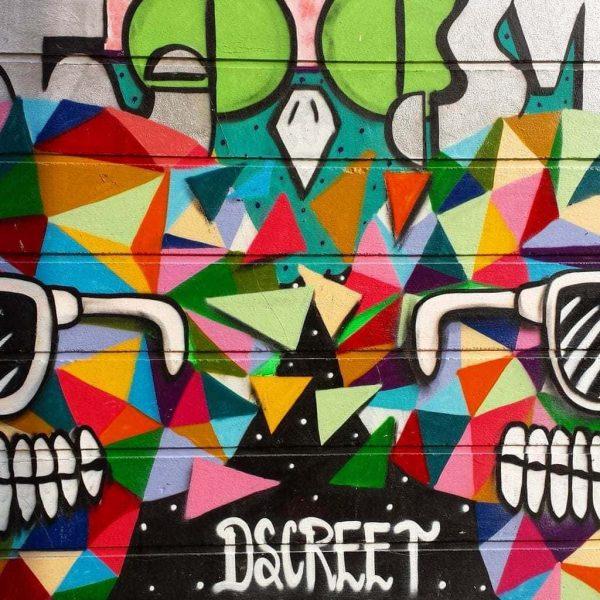 Dscreet Mural on Grimsby Street