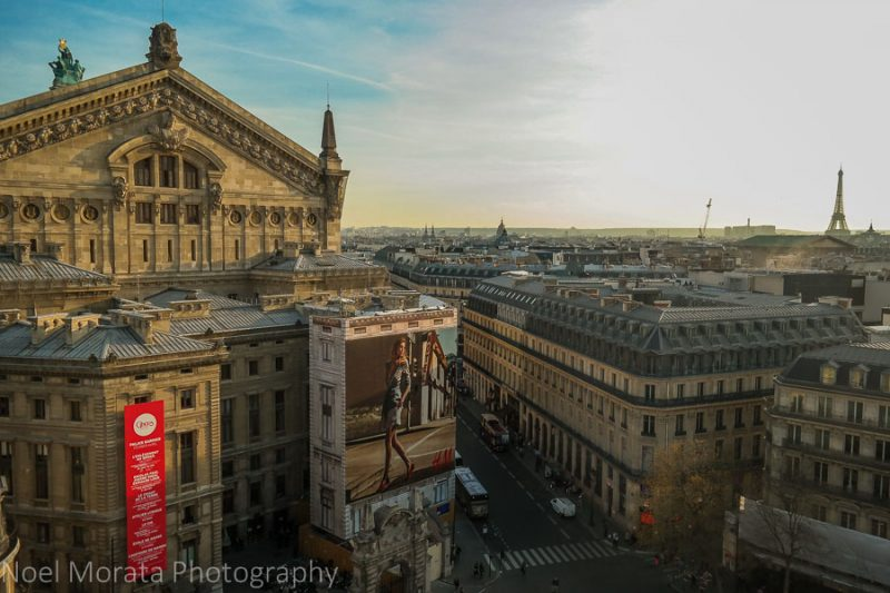 Rooftop views from Galeries Lafayette