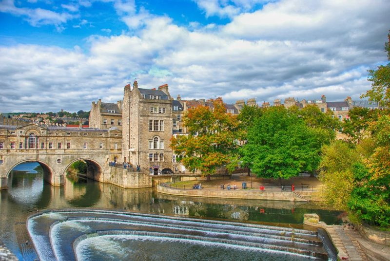 Pulteney Bridge in Bath - one of the most romantic places in the UK
