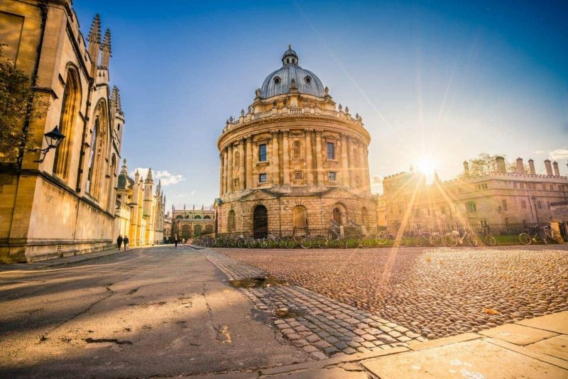 Radcliffe Science Library with sunset flare - Things to do in Oxford England
