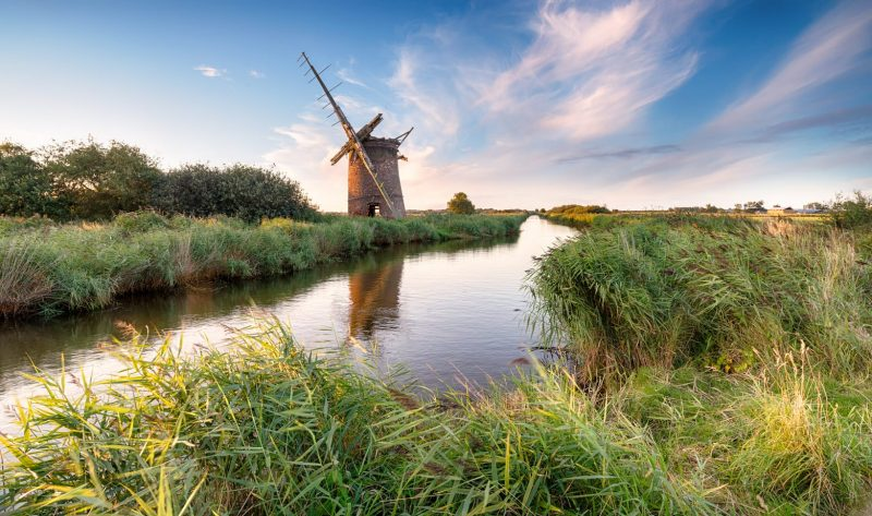 romantic places in england - norfolk broads