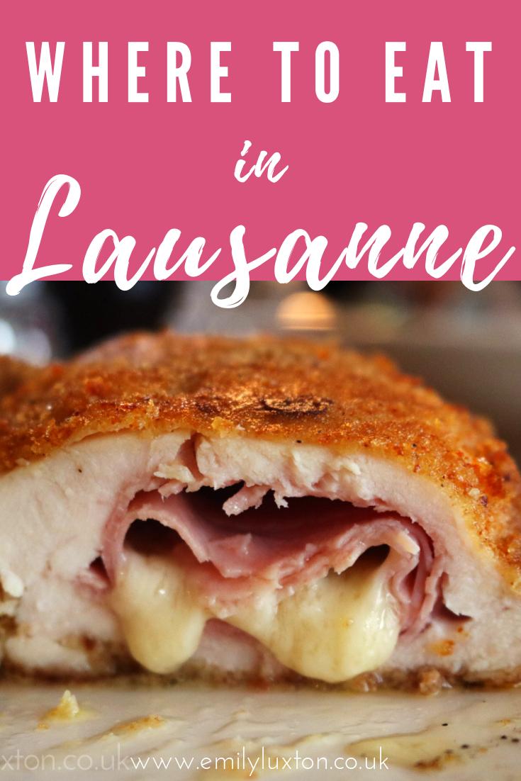 Best Restuarants in Lausanne