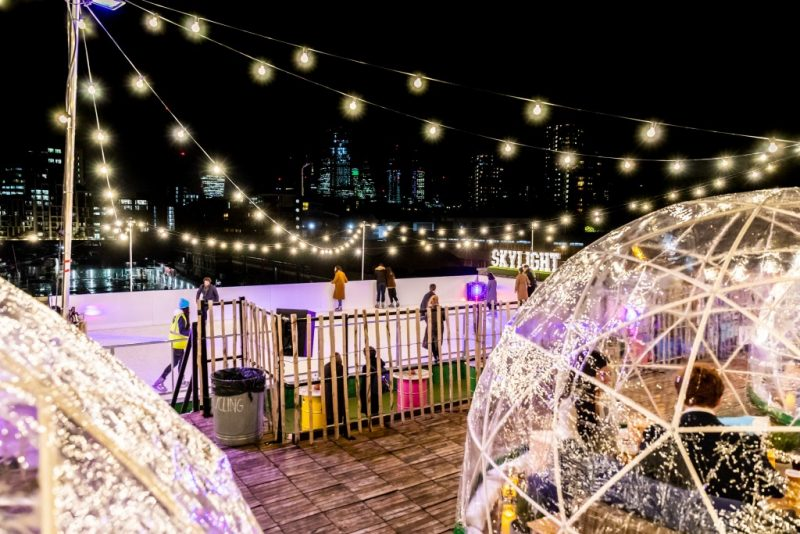 london rooftop ice rink