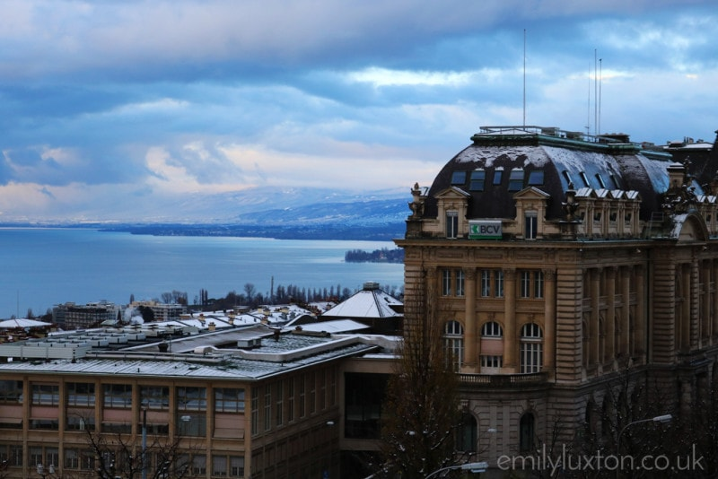 Snow clouds over Lausanne