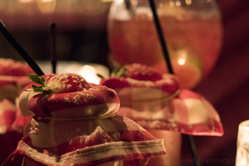 cocktails with strawberries