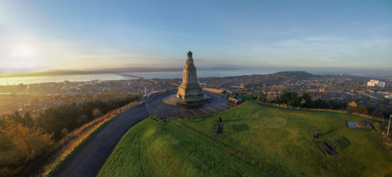 Dundee Law at sunset