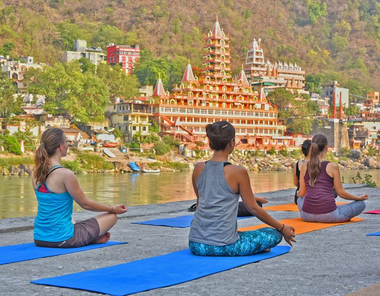 Yoga by the Ganges in Rishikesh