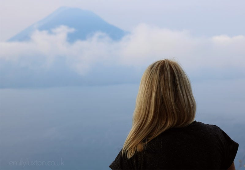 Me at Lake Atitlan Guatemala - Blue WM