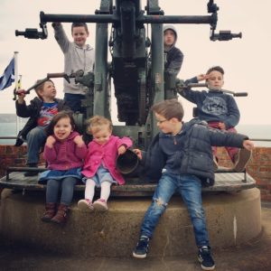 Kids at the Nothe Fort