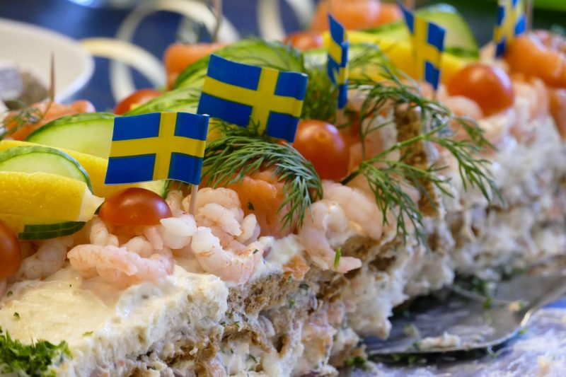 Smörgåstårta Sandwich Cake - traditional swedish food