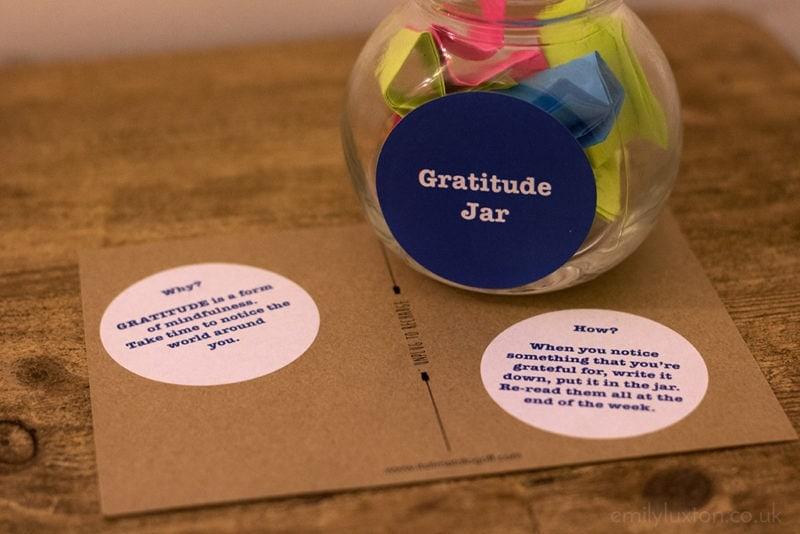 Gratitude jar to practice mindfulness
