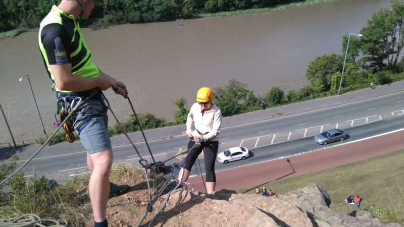 Abseiling Bristol with Adventure Cafe