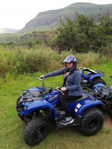 Me quad biking in South Africa