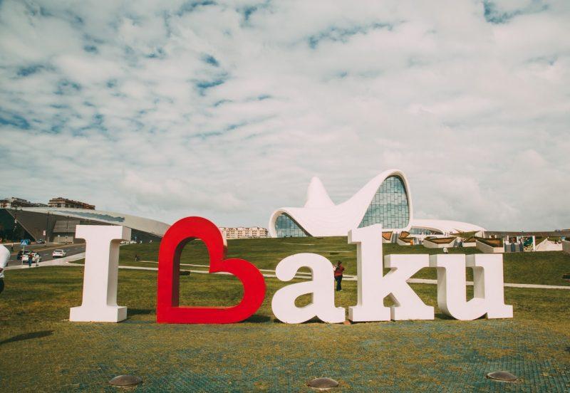I love Baku sign Azerbaijan