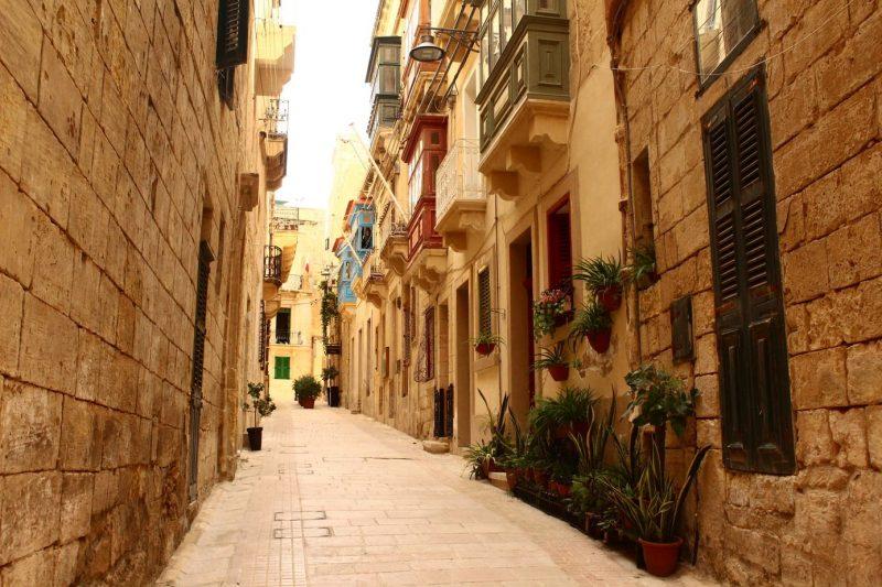 Street in Birgu Malta