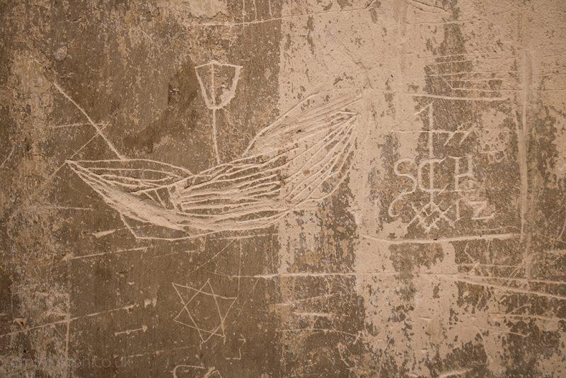 Old graffiti at Tudor House Museum