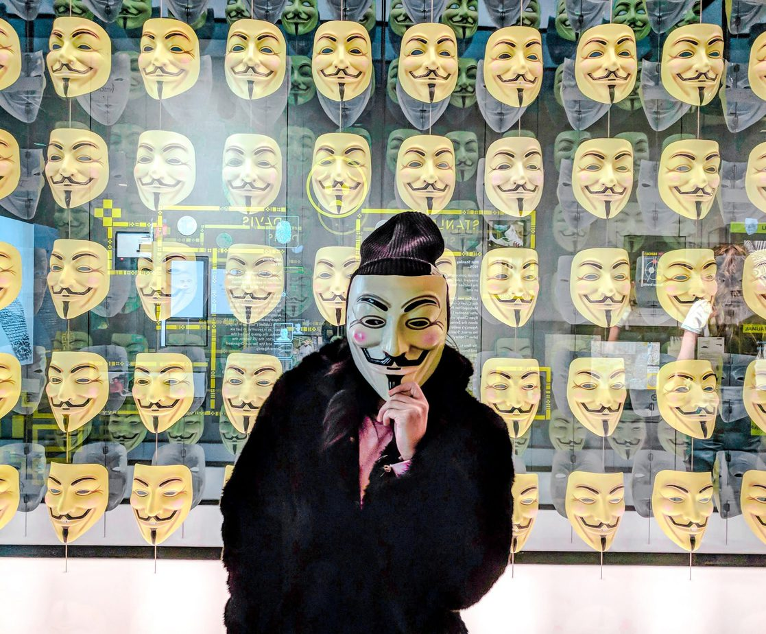 Anonymous Masks at Spyscape