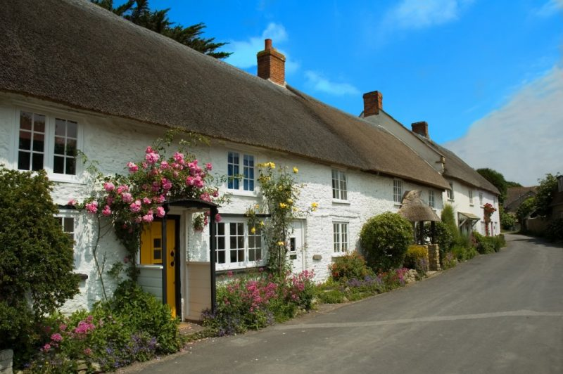 Thatched cottages Abbotsbury Weymouth Dorset