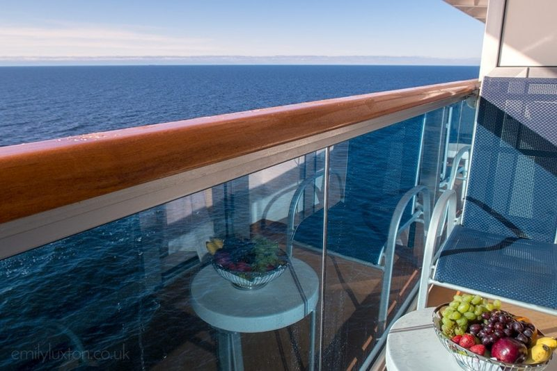 Regal Princess balcony with view of the sea - cabin reviews