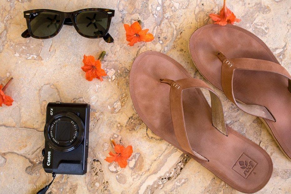 comfortable flip flops for travelling
