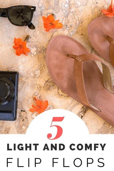 5 Comfortable Flip Flops for Travel