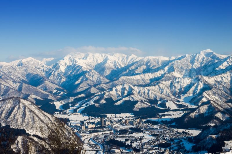 Yuzawa ski resort Japan