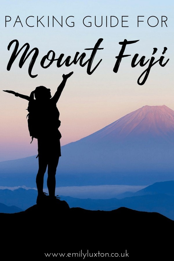 Mount Fuji Packing Guide