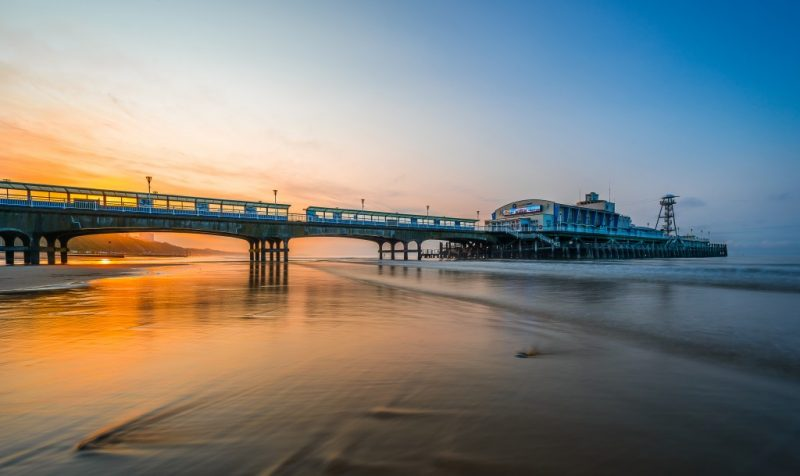 Bournemouth Beach and Pier Dorset at Sunset