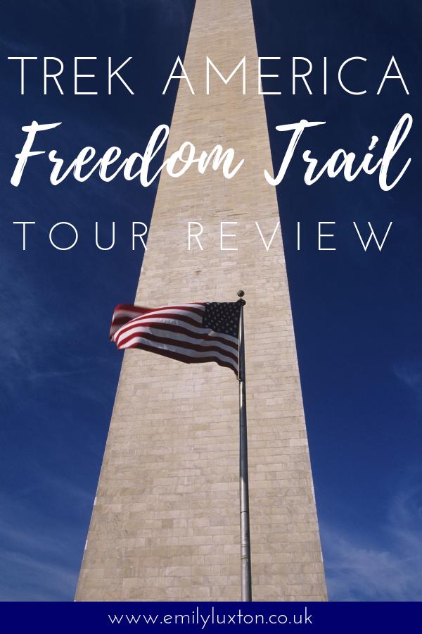 Trek America East Coast USA Tour Freedom Trail